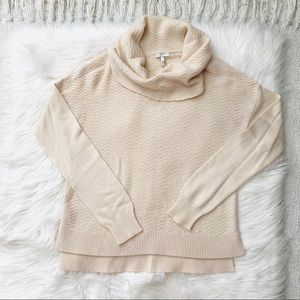 Joie Ivory Cowl Neck Sweater